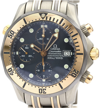 Omega Seamaster Blue gold and steel Watches