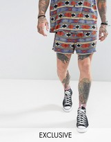 Reclaimed Vintage Inspired Shorts In Ikat Print