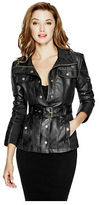 GUESS Women's Reza Faux-Leather Jacket