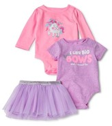 Garanimals Baby Girl Long & Short Sleeve Bodysuit & Tutu Outfit, 3pc Set
