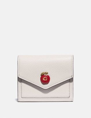Coach Small Wallet With Apple Print