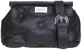 Maison Margiela Glam Slam Handbag In Soft Black Leather