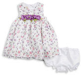 Laura Ashley Baby Girls Floral Dress and Bloomers Set