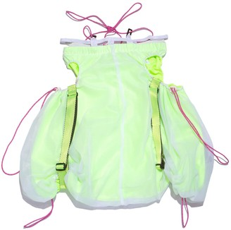 Shii Said Double Layered Drawstring Skirt In Neon