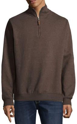 Vintage Leather Victory Brushed Fleece Quarter Zip Pullover