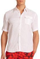 Vilebrequin Classic Linen Button-Down Shirt