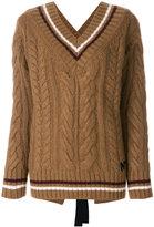 No.21 stripe detail jumper