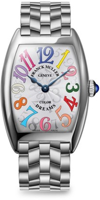Franck Muller Cintree Curvex 35MM Color Dreams Stainless Steel Watch