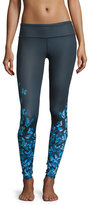 Alo Yoga Airbrush Butterfly-Print High-Waisted Sport Leggings