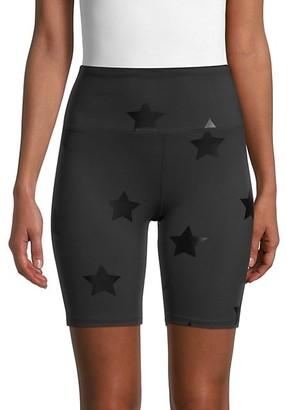Nanette Lepore Star-Print Biker Shorts