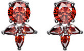 Fallon Women's Monarch Pointed Cluster Stud Earrings-RED
