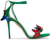 Aquazzura Papillon butterfly-applique sandals