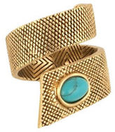House Of Harlow 1960 Tanta Crosshatch Ring