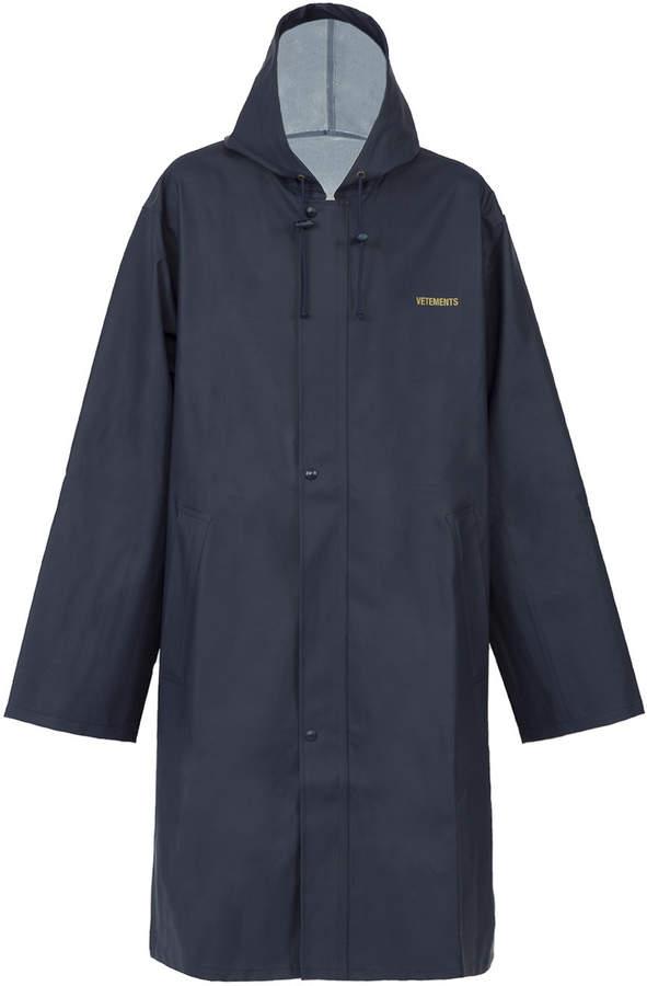 Vetements logo raincoat