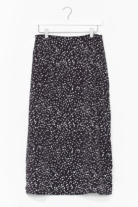 Nasty Gal Womens Slit the Cheque Polka Dot Midi Skirt - Black