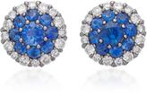 Nam Cho 18K White Gold Sapphire and Diamond Stud Earrings
