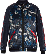 The Upside Cherry Blossom-print bomber jacket