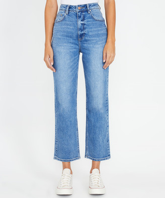 Lee High Straight Jeans Supple Blue