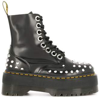 Dr. Martens studded platform boots