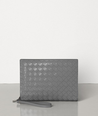 Bottega Veneta MINI DOCUMENT CASE IN INTRECCIATO SPAZZOLATO CALF