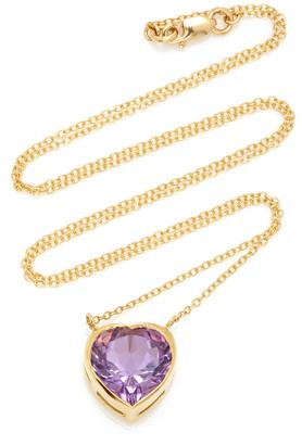 Katey Walker London 18K Gold and Amethyst Necklace