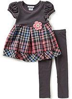 Bonnie Jean Little Girls 2T-4T Plaid Pleated Dress & Leggings Set