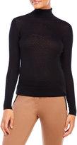 August Silk Turtleneck Mini Cable Sweater