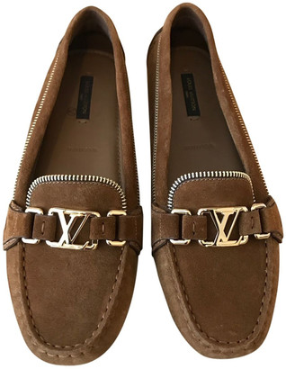 Camel Suede Flats | Shop the world's