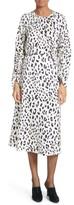 Tibi Women's Cheetah Satin Dress