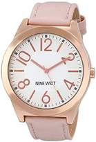 Nine West Women's NW/1660SVPK Rose Gold-Tone Case Watch with Blush Strap