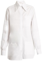 Christopher Kane Point-collar cotton-poplin shirt