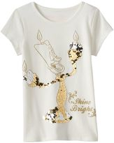 "Disney Disney's Beauty and the Beast Girls 4-7 Lumiere ""Shine Bright"" Tee by Jumping Beans®"