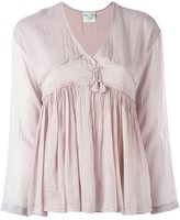 Forte Forte gathered tassel blouse - women - Silk/Cotton - 0