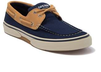 Sperry Halyard 2 Eye Leather Canvas Boat Shoe