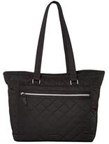 Vera Bradley Iconic Performance Twill Work Tote (Black) Tote Handbags
