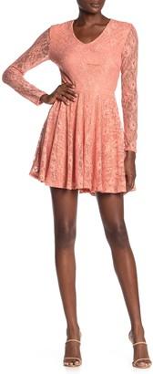 Jolt Lace Fit & Flare Dress