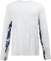 Yang Li arm detail semi-sheer T-shirt