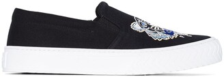 Kenzo Tiger embroidered motif slip-on sneakers