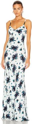 Rebecca De Ravenel You Got This Slip Dress in Navy Poppies | FWRD