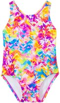 Speedo Girls' Printed Racerback One Piece with Snap Bottom (12mos3T) - 8137134