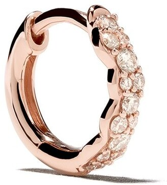 Astley Clarke 14kt rose gold diamond Mini Interstellar single hoop