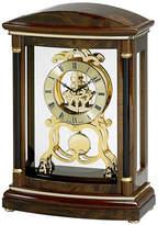 Bulova Valeria Wood Pendulum Skeleton Mantel Clock