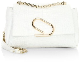 3.1 Phillip Lim Alix Croc-Embossed Leather Shoulder Bag