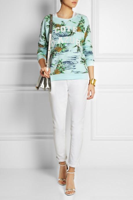Zoe Karssen Paradise printed cotton-blend jersey sweatshirt