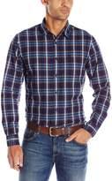 Dockers Long Sleeve Dye Plaid Chambray Woven Shirt