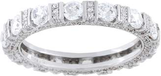 Diamonique 2.10 cttw Eternity Band, Sterling Silver