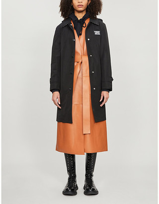 Burberry Oxclose hooded shell trench coat