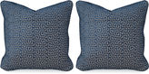 Miles Talbott Collection S/2 Miander Velvet 20x20 Pillows, Lapis