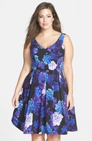 City Chic Plus Size Women's Hydrangea Print Dress