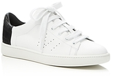 Vince Varin Embossed Low Top Lace Up Sneakers